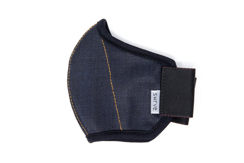 KIDS midnight cotton denim MASK
