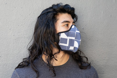 LONG modern shapes cotton MASK