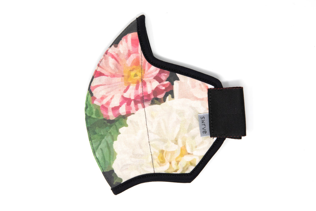 LONG floral cotton MASK