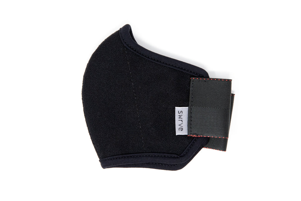 KIDS 3 layer black wool crepe MASK