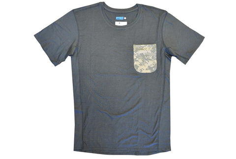 COTTON / MODAL® S/S pocket! crew t-shirt