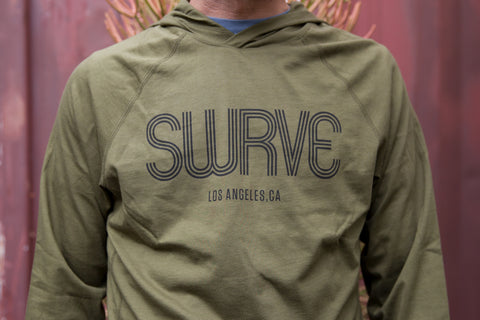 screen printed swrve 1968 COTTON / MODAL® L/S hiding hoodie