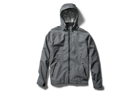 KEIU waterproof FULL-ZIP JACKET with removable hood