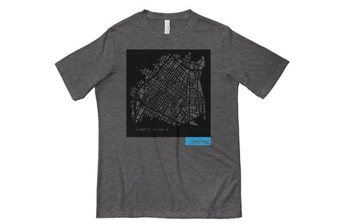 lightweight summertime DTLA block print t-shirt