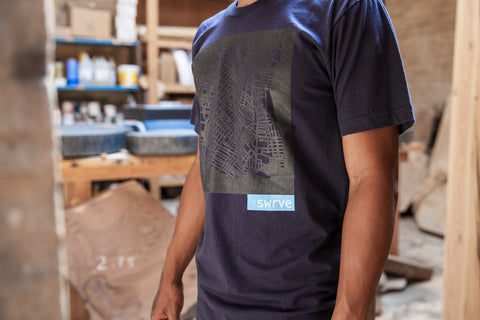 DTLA block print 100% cotton t-shirt