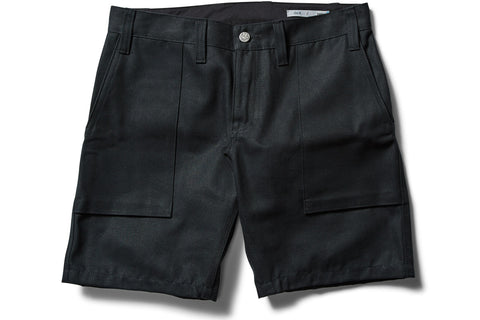 _blk label heavy canvas CAMP SHORTS