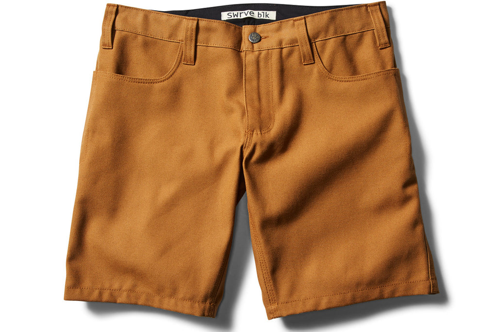 _blk label heavy canvas TROUSER SHORTS