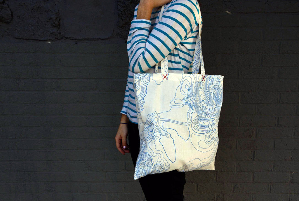 SALE! TOPO MAP _blk label limited edition TOTE