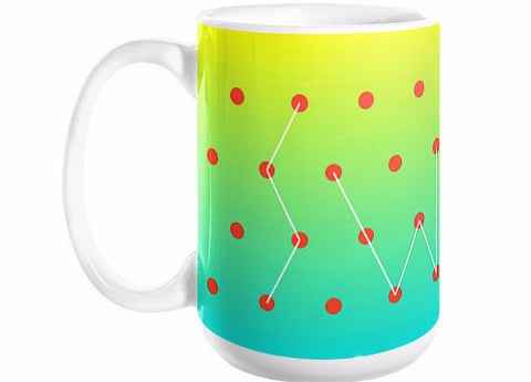 mug : connect the dots / orange