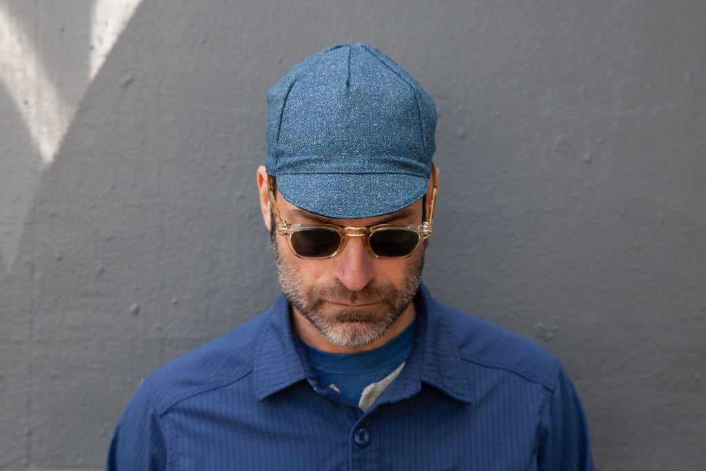 BLUE HEATHER midweight wool/silk CAP