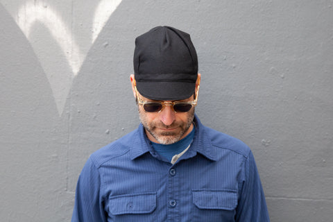 BLACK flannel wool CAP