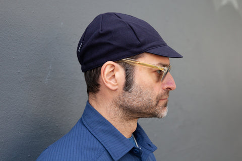 DEEP INDIGO heavy-weight wool CAP