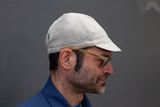 LIGHT GREY HEATHER HERRINGBONE heavy-weight wool CAP