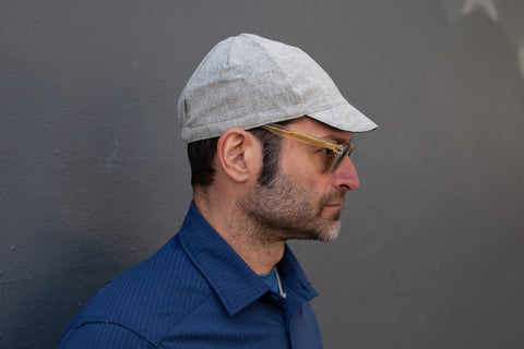 LIGHT GREY HEATHER midweight flannel wool CAP