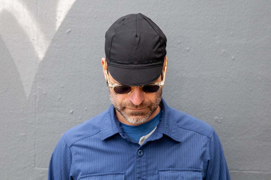 BLACK lightweight wool CAP