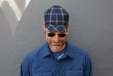 NAVY WHITE ROYAL CHECK lightweight wool CAP