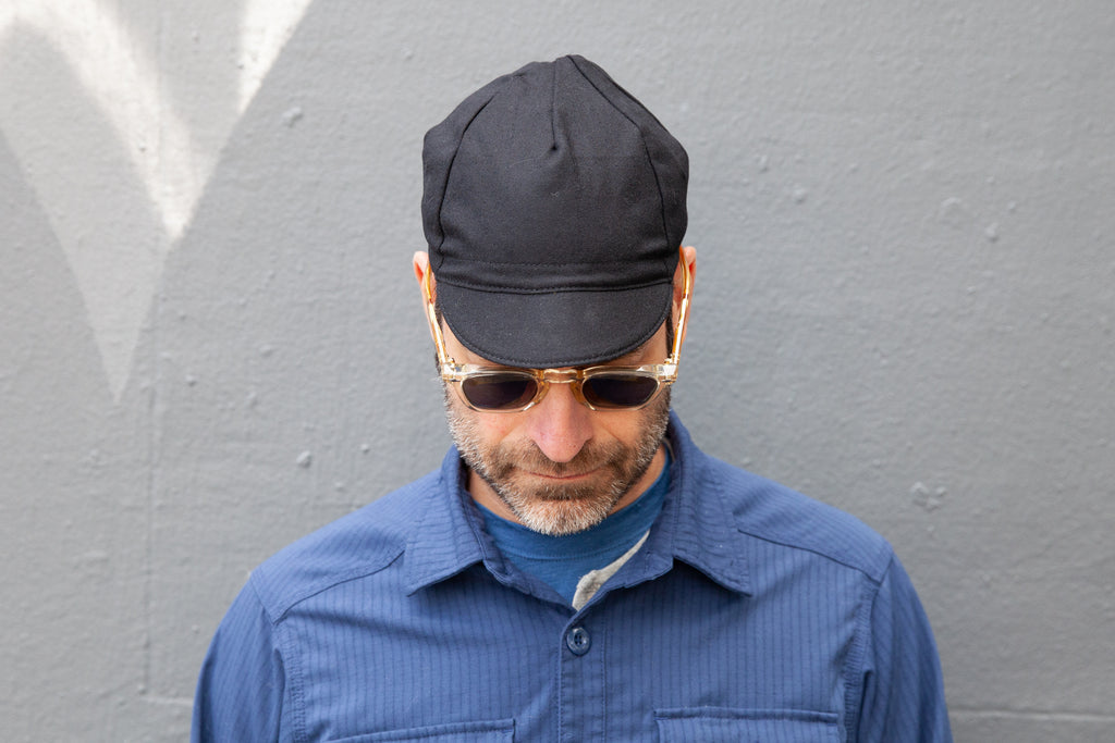 BLACK midweight wool CAP