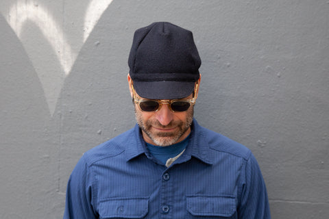 BLACK heavy-weight wool CAP
