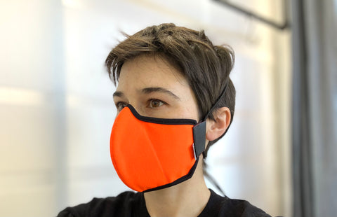 fluorescent orange mask