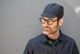 HEATHER MIDNIGHT BLUE lightweight wool CAP