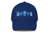 chunky logo unstructured cotton dad cap