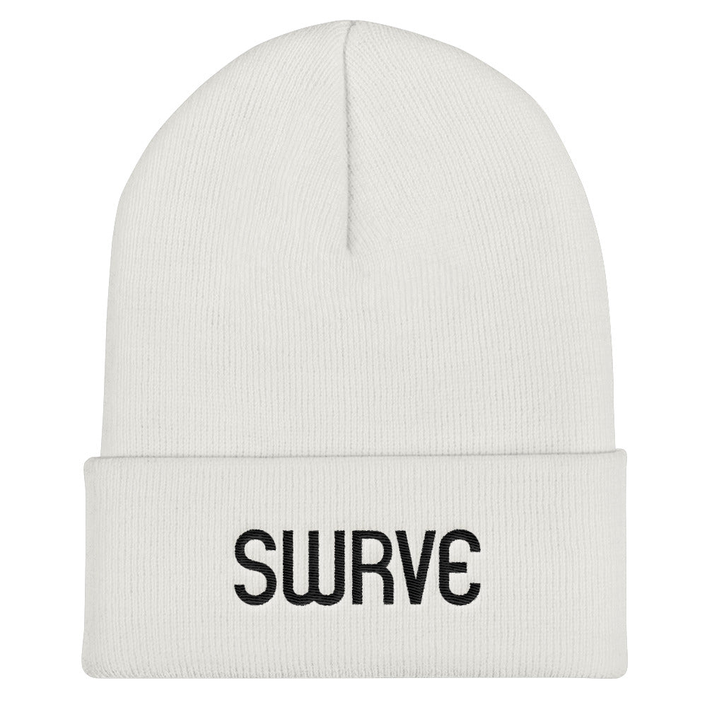 swrve 1968 BLACK embroidered beanie