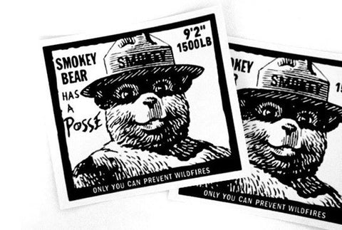 SMOKEY BEAR sticker 2014