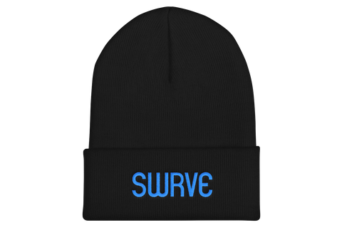 swrve 1968 CYAN embroidered beanie