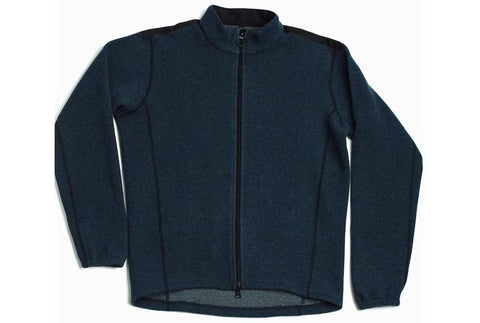 Italian wool FULL-ZIP SWEATER