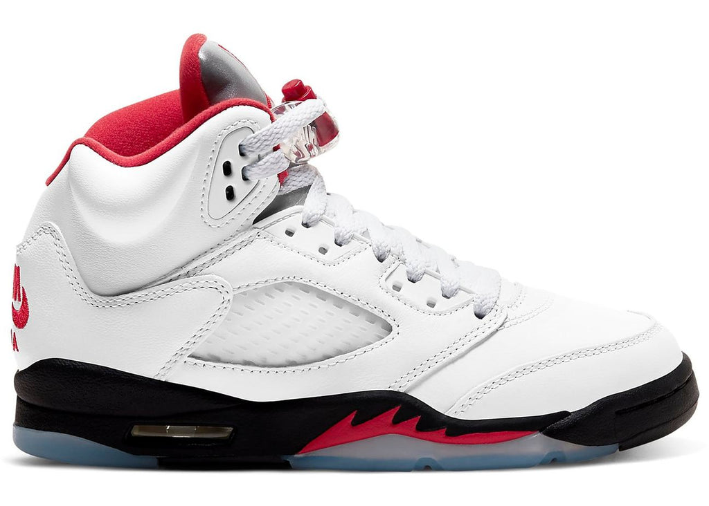"Air Jordan 5 Retro GS ""Fire Red"" (Silver Tongue)"