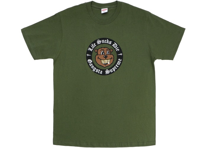 "Supreme Life Sucks Die ""Olive"" Tee"