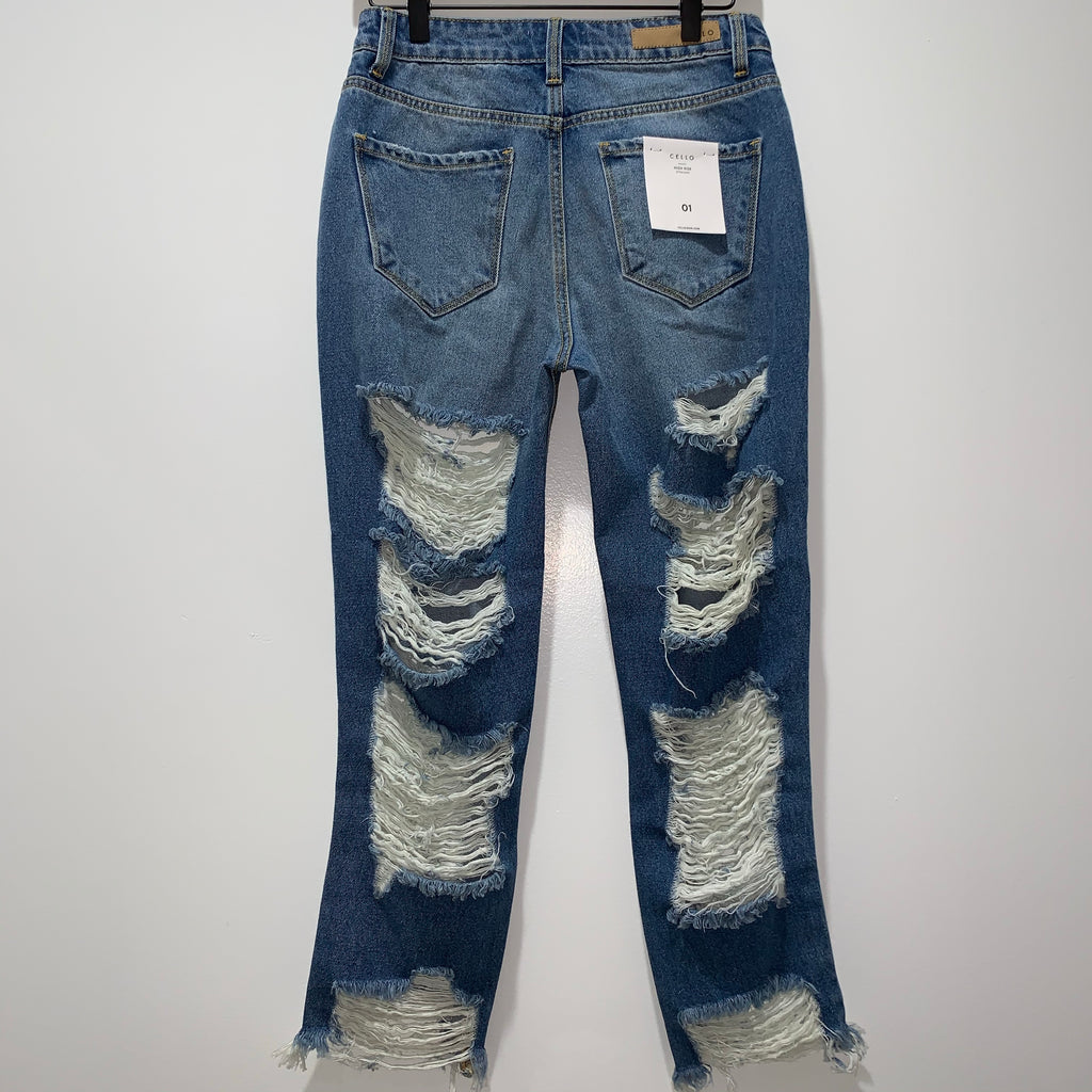 "Blue Distressed Jean ""Style 1"""