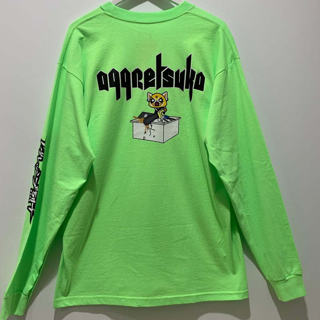"Aggretsuko Long Sleeve ""Neon Green"" Tee"