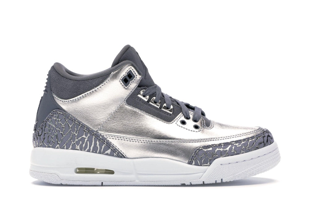 "Air Jordan 3 Retro GS Heiress ""Metallic Silver"""