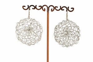 LARGE CROCHET CIRCLE EARRINGS