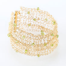 "Load image into Gallery viewer, CUFF 1.5"" WITH PERIDOT"