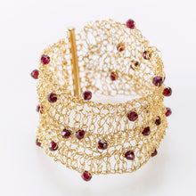 "Load image into Gallery viewer, CUFF 1.5"" WITH GARNET"