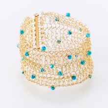 "Load image into Gallery viewer, CUFF 1.5"" WITH TURQUOISE"