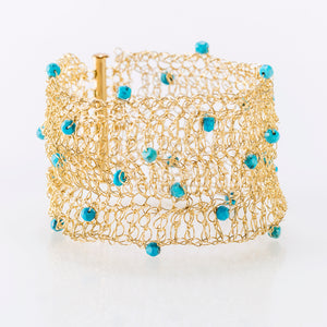 "CUFF 1.5"" WITH TURQUOISE"