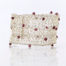 "Load image into Gallery viewer, CUFF 1.5"" WITIH GARNETS"