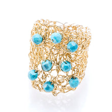 Load image into Gallery viewer, OVAL RING GOLD AND TURQUOISE