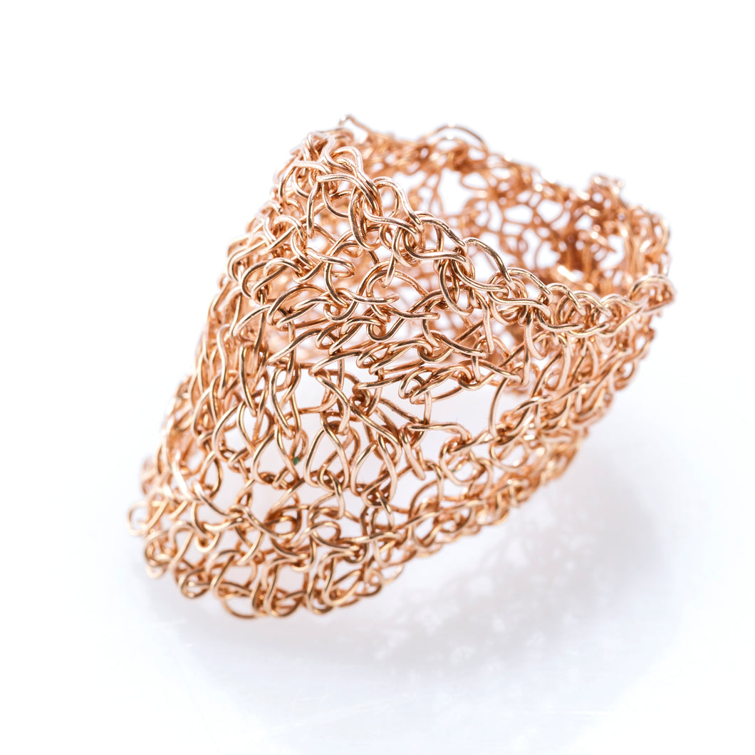 OVAL RING ROSE GOLD