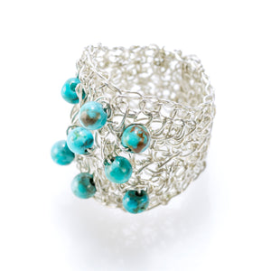 OVAL RING SILVER AND TURQUOISE