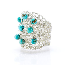 Load image into Gallery viewer, OVAL RING SILVER AND TURQUOISE