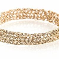 DOUBLE STITCH CROCHET BANGLE
