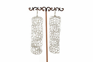 CROCHET RECTANGLE EARRINGS