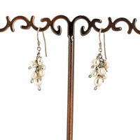 DELICATE DROP EARRINGS WITH FRESH WATER PEARL