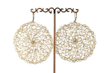 Load image into Gallery viewer, LARGE CROCHET CIRCLE EARRINGS