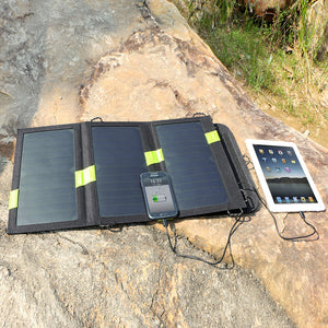Dual USB 5V 20W Portable Foldable Solar Charger Solar Panel For Camping, Hiking, Traveling, Fishing - Daily Tech Bargains