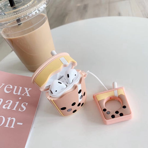 Boba Bubble Milk Tea Silicone Case For Apple AirPods - Daily Tech Bargains
